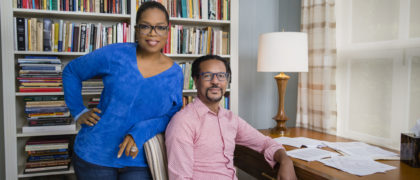 Oprah and Colson Whitehead, author of The Underground Railroad